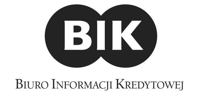 czarno białe logo Biura Informacji Kredytowej
